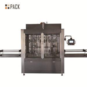 Dwugłowicowa pneumatyczna objętościowa maszyna do napełniania cieczą tłokową